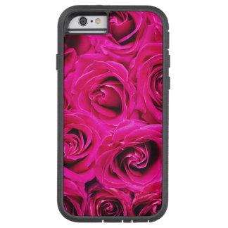 Romantic Pink Purple Roses Pattern Tough Xtreme iPhone 6 Case