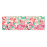 Romantic Pink Retro Floral Pattern Teal Polka Dots Business Card Templates