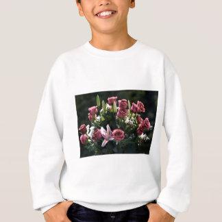 Romantic Pink Rose Bouquet Sweatshirt