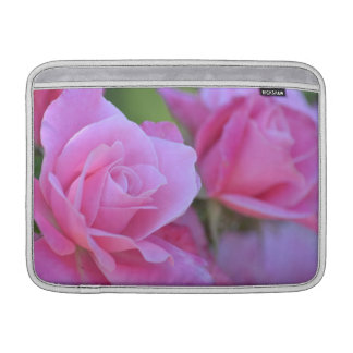 Romantic Pink Rose Floral Sleeve For MacBook Air