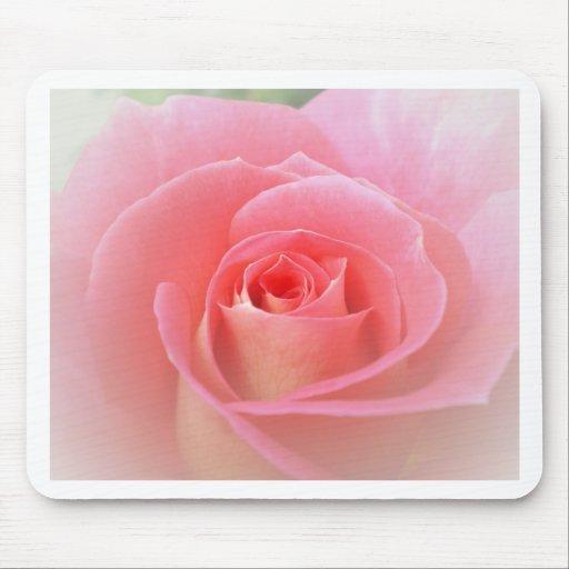 Romantic Pink Rose Mousepads