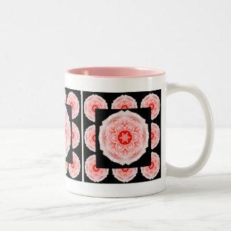 Romantic Pink Rose Pattern coffee mug