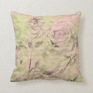 Romantic Pink Rose Throw Pillow