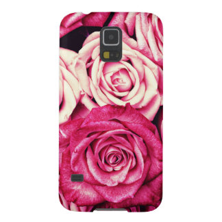 Romantic Pink Roses Case For Galaxy S5