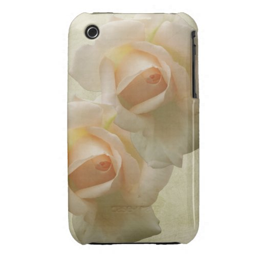 Romantic Pink Roses on Grunge background iPhone 3 Covers