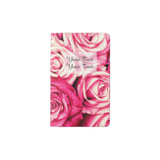 Romantic Pink Roses Pocket Moleskine Notebook
