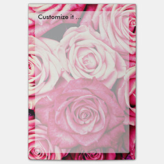 Romantic Pink Roses Post-it Notes