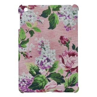 Romantic Pink Roses Vintage Floral Pattern iPad Mini Cases