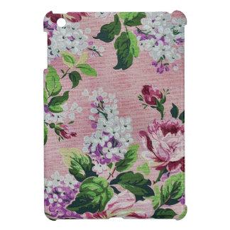 Romantic Pink Roses Vintage Floral Pattern iPad Mini Cases