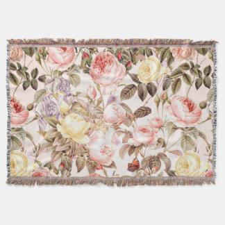 Romantic pink vintage rose flower pattern