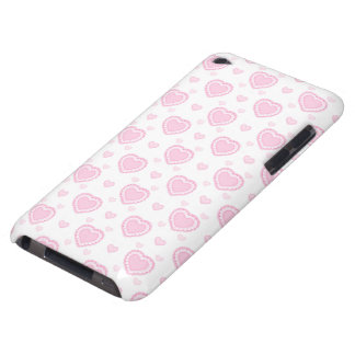 Romantic Pink & White Hearts Barely There iPod Cover