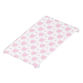 Romantic Pink & White Hearts Case For The iPad Mini
