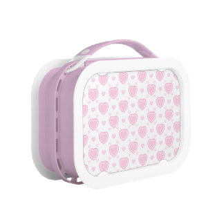 Romantic Pink & White Hearts Lunch Box