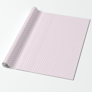 Romantic Pink & White Hearts Wrapping Paper