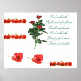 romantic poem posters