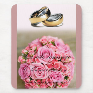 romantic proposal of marriage mouse pad