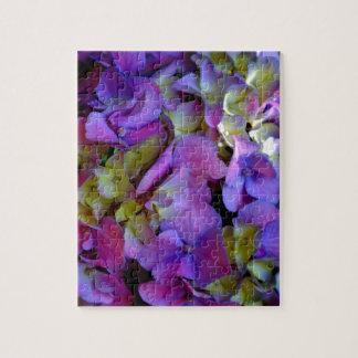 Romantic Purple Hydrangeas Jigsaw Puzzle