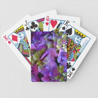 Romantic Purple Hydrangeas Poker Deck