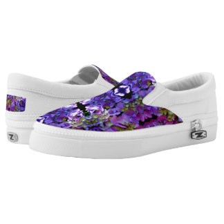 Romantic purple Hydrangeas Slip-On Shoes