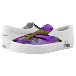 Romantic purple Hydrangeas Slip On Shoes