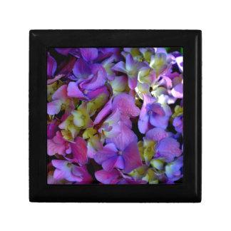 Romantic Purple Hydrangeas Small Square Gift Box