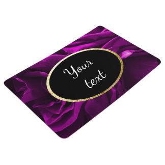 Romantic purple roses floral photo floor mat
