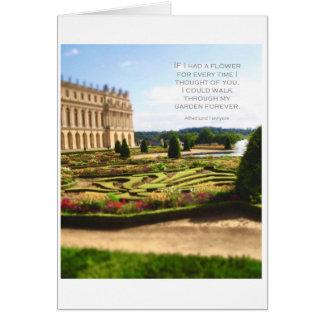 Romantic quote with Versailles Garden Card