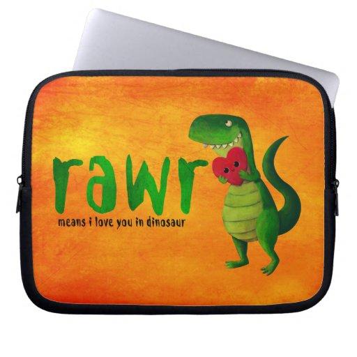 Romantic RAWR T-rex Dinosaur Laptop Computer Sleeves