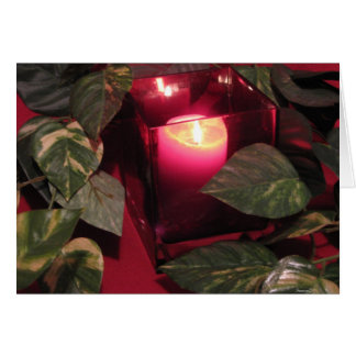 Romantic Red Candle Greeting Card