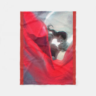 Romantic red color blanket