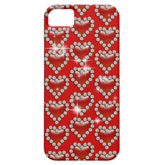 Romantic red heart pattern iPhone 5 cases