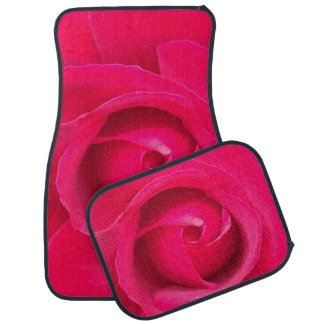 Romantic Red Pink Rose Car Mat