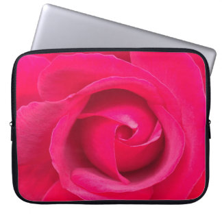 Romantic Red Pink Rose Laptop Sleeve