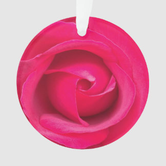 Romantic Red Pink Rose Ornament