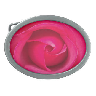 Romantic Red Pink Rose Oval Belt Buckles