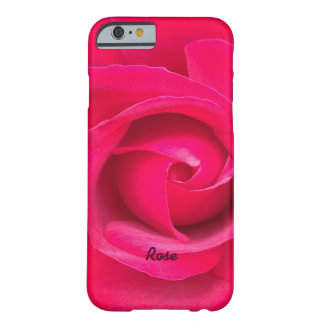 Romantic Red Pink Rose Personalized Barely There iPhone 6 Case