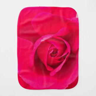 Romantic Red Pink Rose v2 Baby Burp Cloth