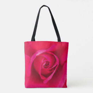 Romantic Red Pink Rose v2 Tote Bag