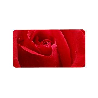Romantic Red Rose Address Label