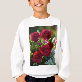 Romantic Red Rose Bouquet Sweatshirt