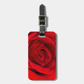 Romantic Red Rose Luggage Tag