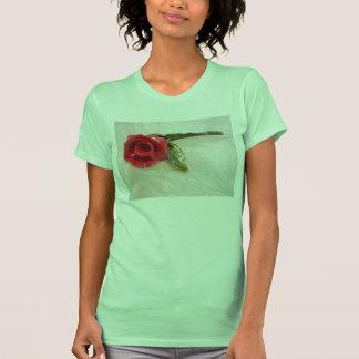 romantic red rose t-shirt