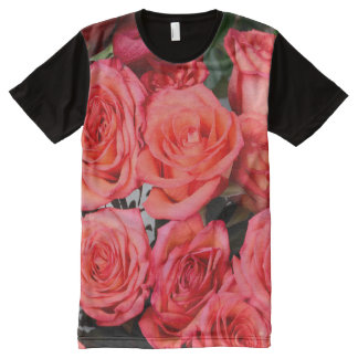 Romantic red roses bouquet All-Over print T-Shirt