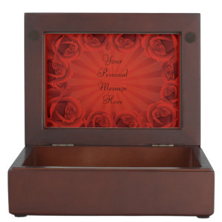Romantic Red Roses Keepsake Box