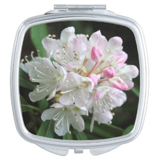"""Romantic Rhododendron"" Pink Flower Photo Compact Mirrors"