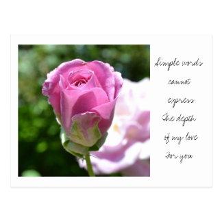 Romantic Rose Bud Postcard