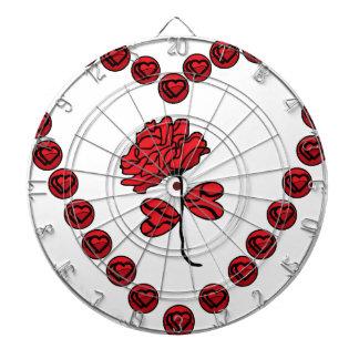 romantic rose dartboard