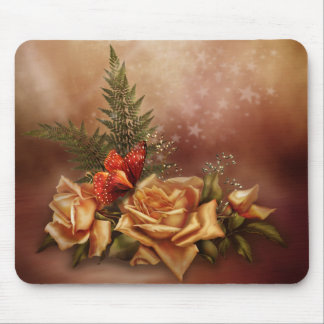 Romantic Rose Fantasy Mouse Pad