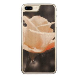 Romantic Rose Flowers Carved iPhone 8 Plus/7 Plus Case