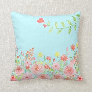 romantic rose garden pillow cushions colour change